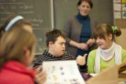 Foto einer Unterrichtssituation in einer Integrationsklasse